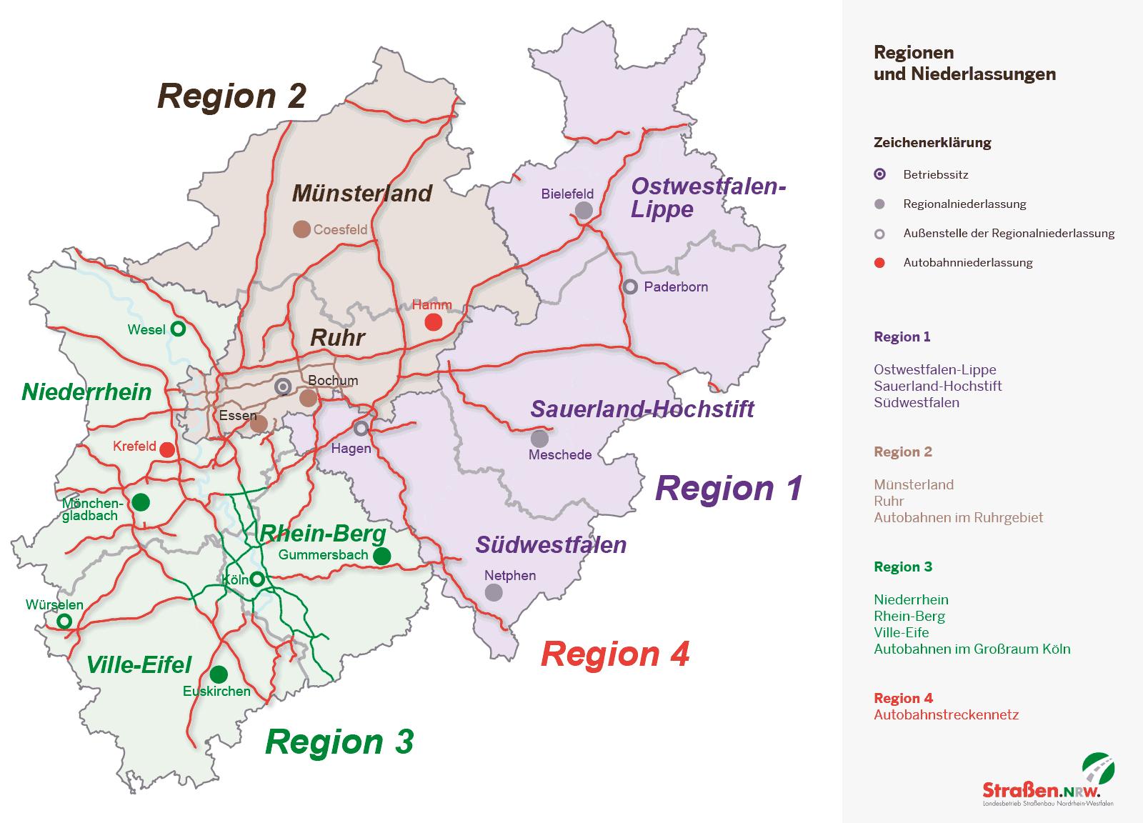 autobahn nrw karte Niederlassungen | Straßen.NRW autobahn nrw karte